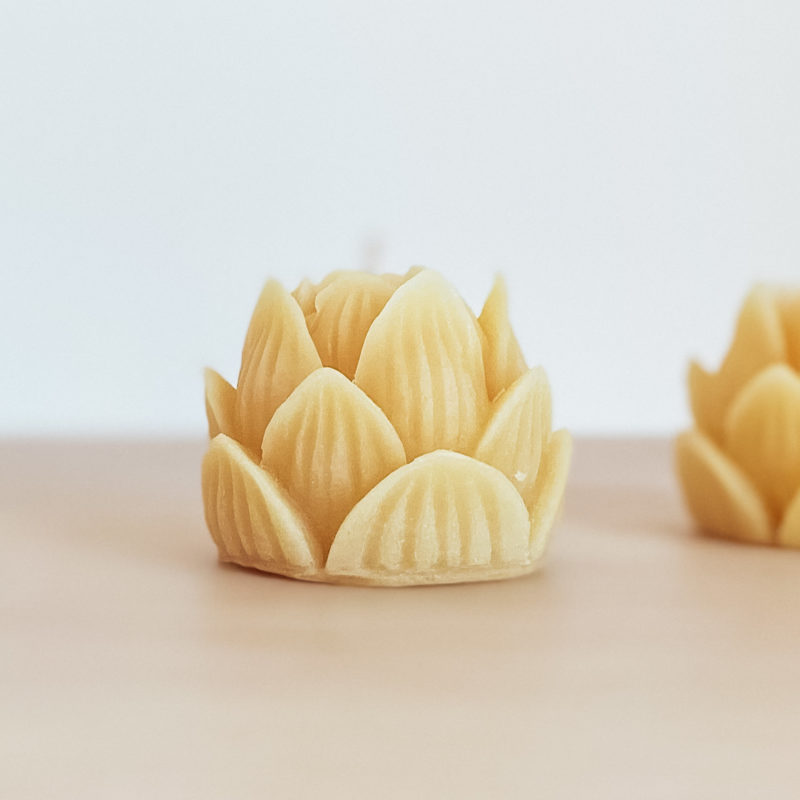 Lotus Beeswax Candle