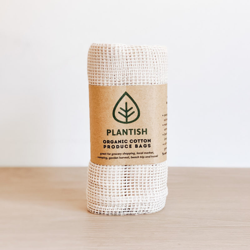 Organic Cotton Produce Bags – 3 pack