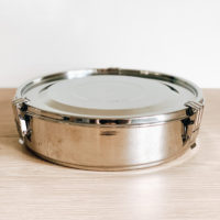 Airtight Stainless Steel Container w/ Dividers – 18cm