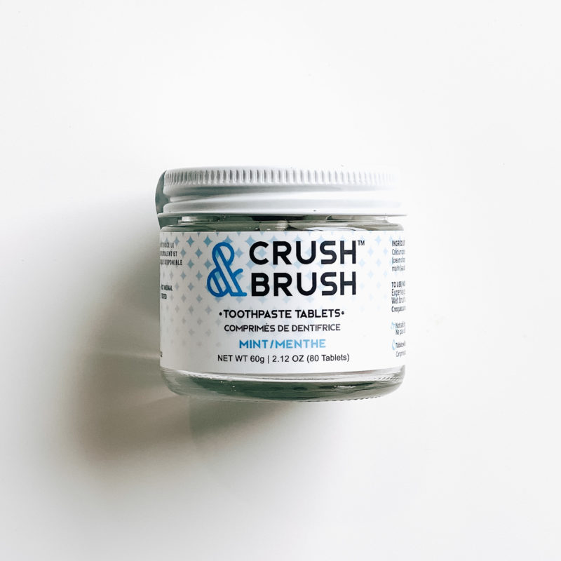 Crush & Brush Toothpaste Tablets (Mint) – 80 tabs